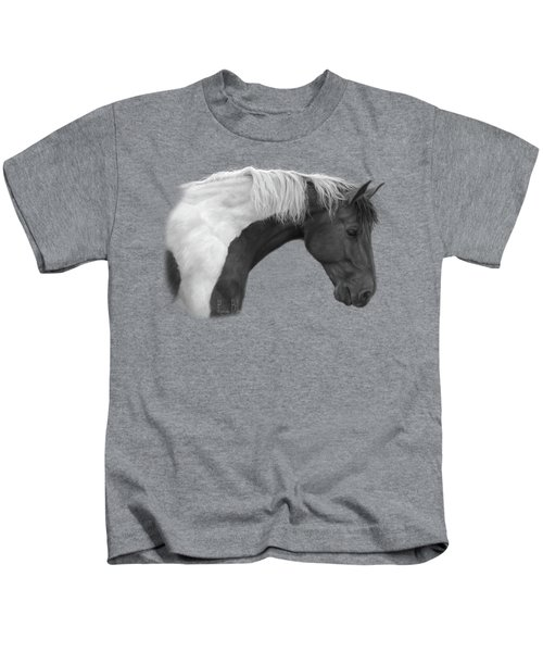 Intrigued - Black And White Kids T-Shirt by Lucie Bilodeau
