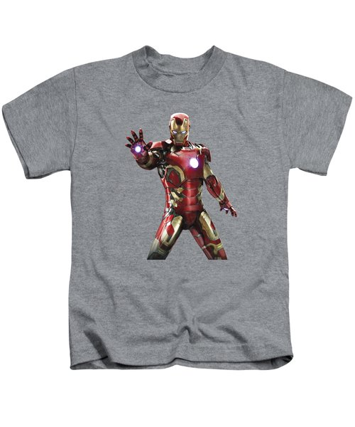 Iron Man Splash Super Hero Series Kids T-Shirt