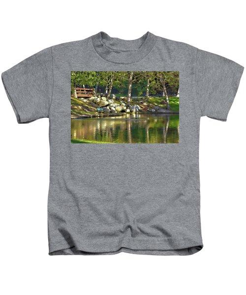 Irvine Park Lake Abstract 1 Kids T-Shirt