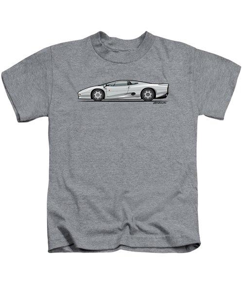 Jag Xj220 Spa Silver Kids T-Shirt