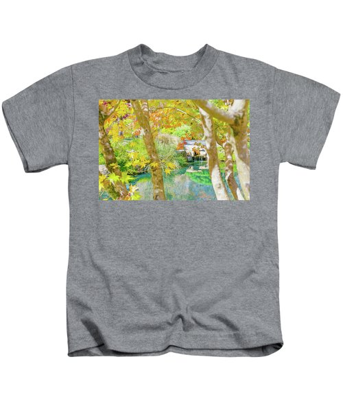 Japanese Garden Pond Kids T-Shirt