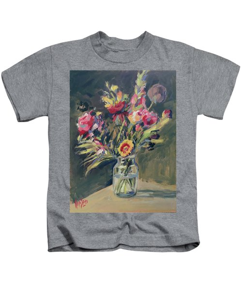 Jar Vase With Flowers Kids T-Shirt