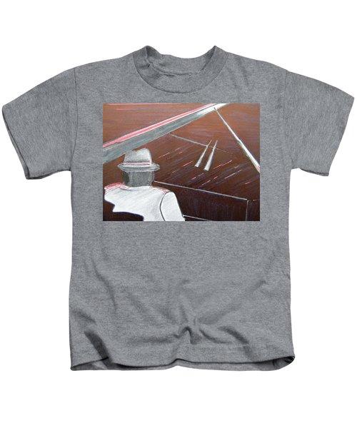 Jazz Pianist At The Brigantine Room Kids T-Shirt