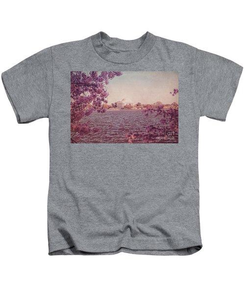 Jefferson Memorial During Spring Kids T-Shirt
