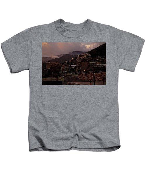 Jerome On The Edge Of Sunrise Kids T-Shirt