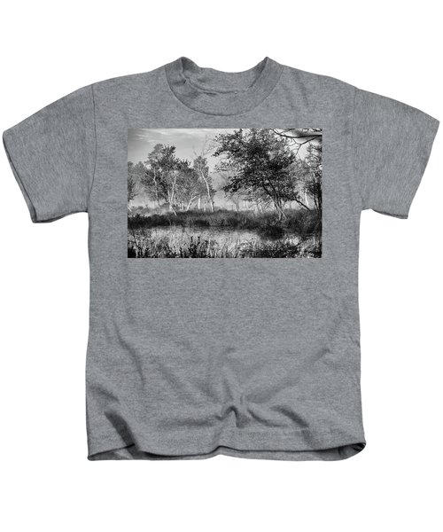 Jersey Pine Lands In Black - White Kids T-Shirt