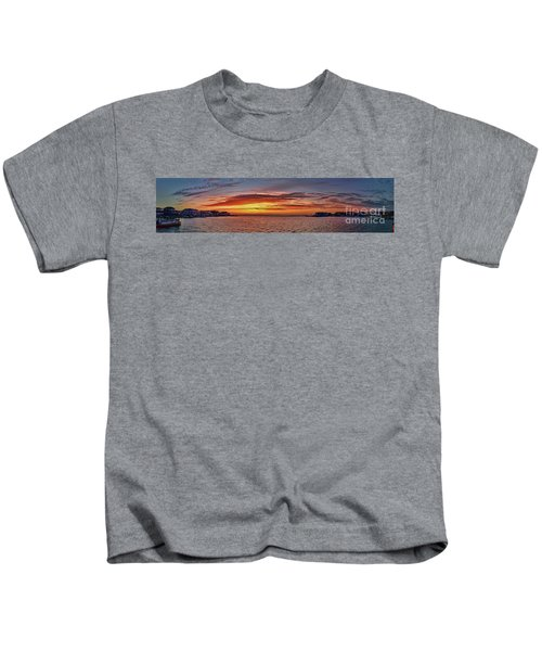 Jersey Shore Panorama Ship Bottom Kids T-Shirt