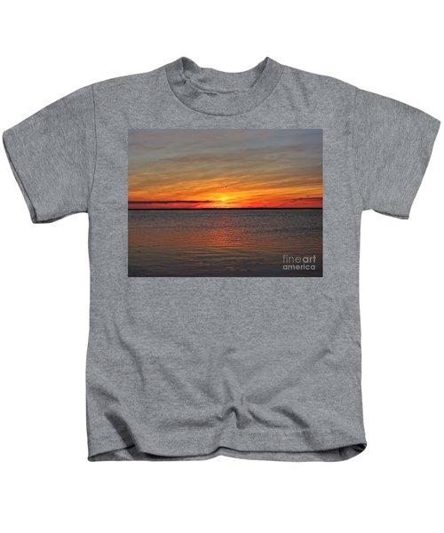 Jersey Shore Sunset Hdr Kids T-Shirt