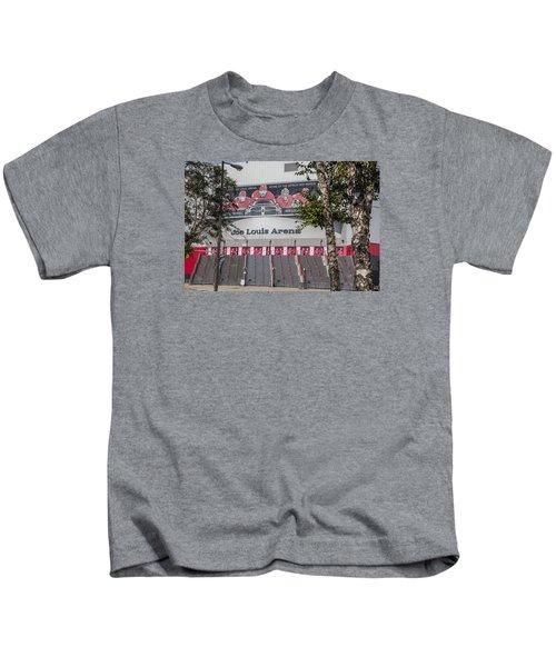 Joe Louis Arena And Trees Kids T-Shirt