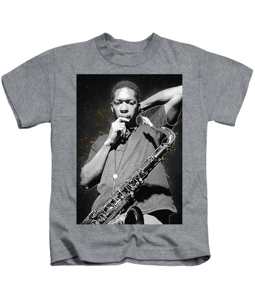 John Coltrane Kids T-Shirt by Semih Yurdabak