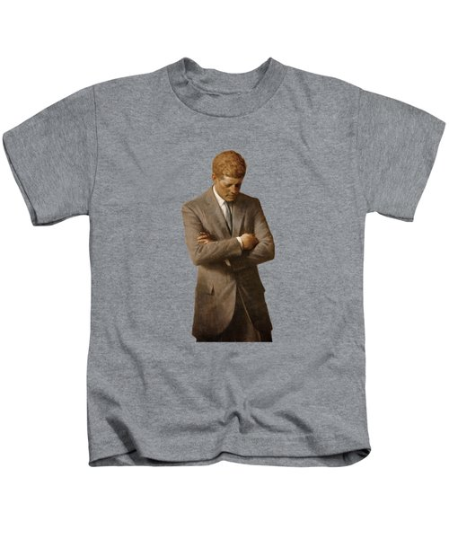 John F Kennedy Kids T-Shirt by War Is Hell Store