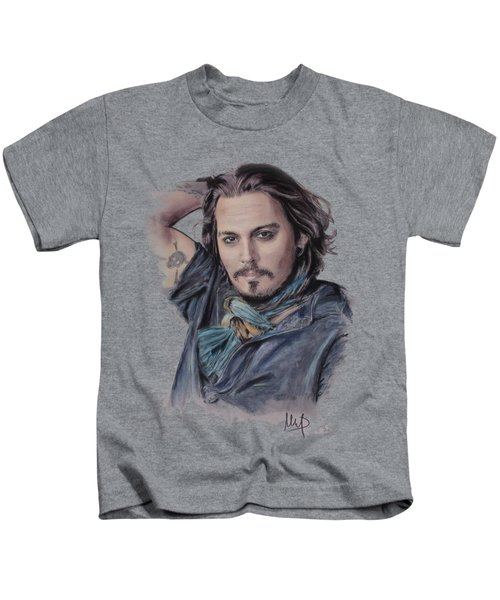 Johnny Depp Kids T-Shirt by Melanie D