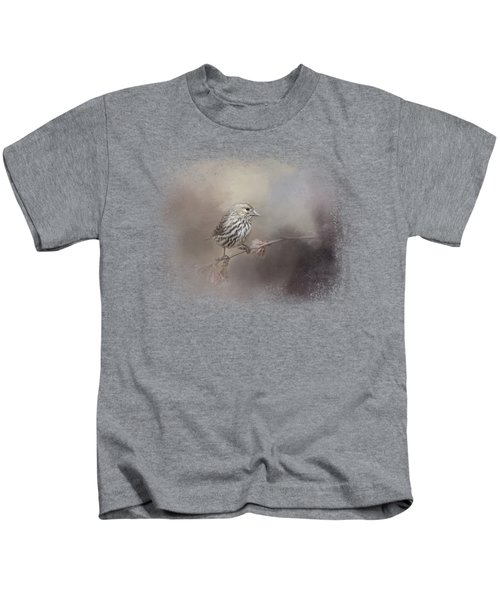 Just A Whisper Of Feathers Kids T-Shirt by Jai Johnson