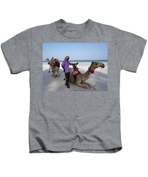 Just Married Camels Kenya Beach 2 Kids T-Shirt