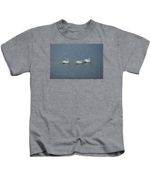Triple Pelicans Lake John Swa Co Kids T-Shirt