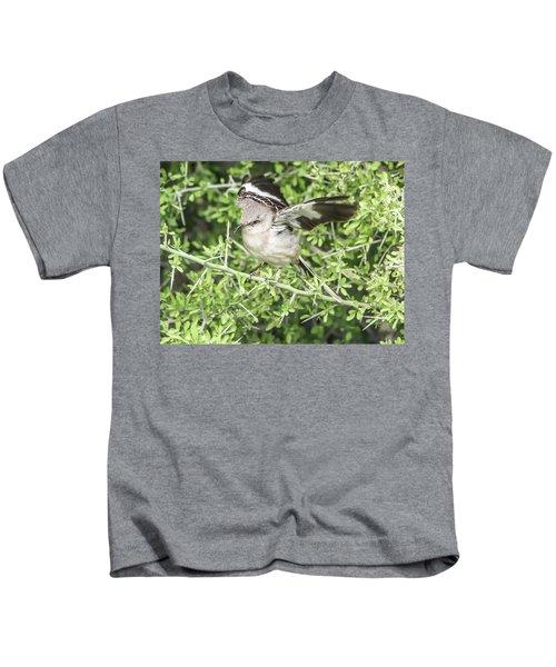 Juvenile Mockingbird With Crossbill Kids T-Shirt
