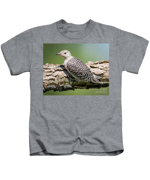 Juvenile Red-bellied Woodpecker Kids T-Shirt