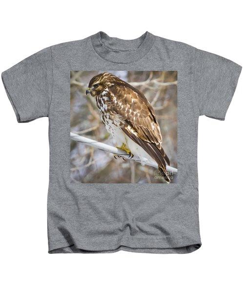 Juvenile Red-shouldered Hawk  Kids T-Shirt
