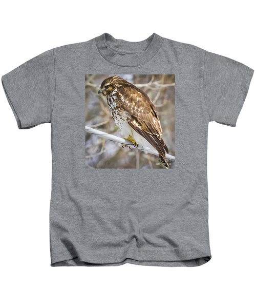 Juvenile Red-shouldered Hawk  Kids T-Shirt
