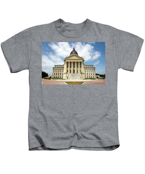 Kansas State Capitol Building Kids T-Shirt