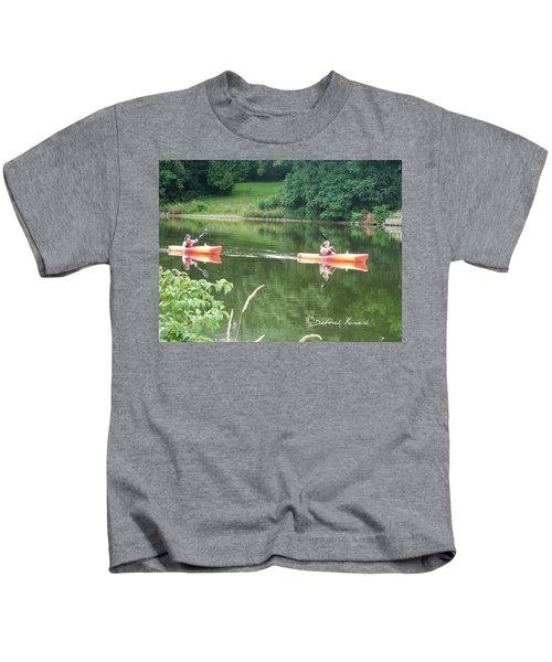 Kayaks On The River Kids T-Shirt