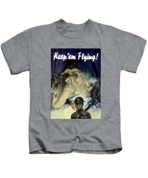 Keep 'em Flying - Uncle Sam  Kids T-Shirt