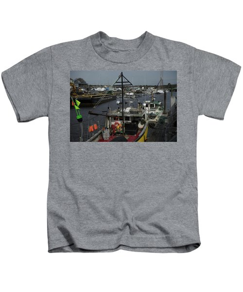 Kennebunkport Harbor In Early Winter Kids T-Shirt