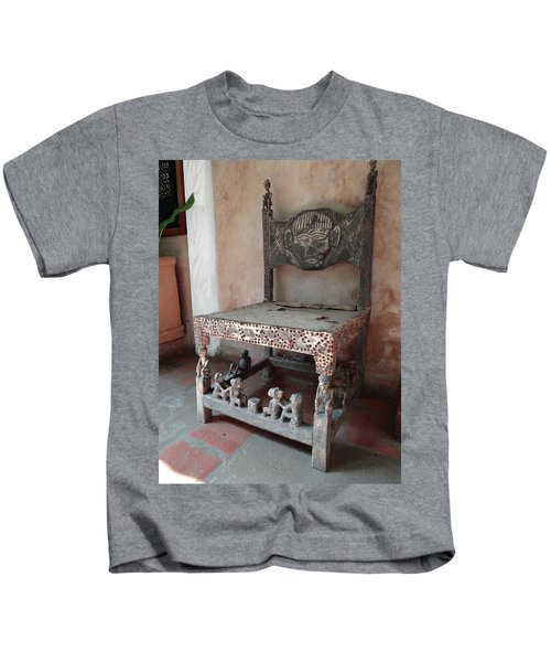 Kenyan African Antique Carved Chair Kids T-Shirt