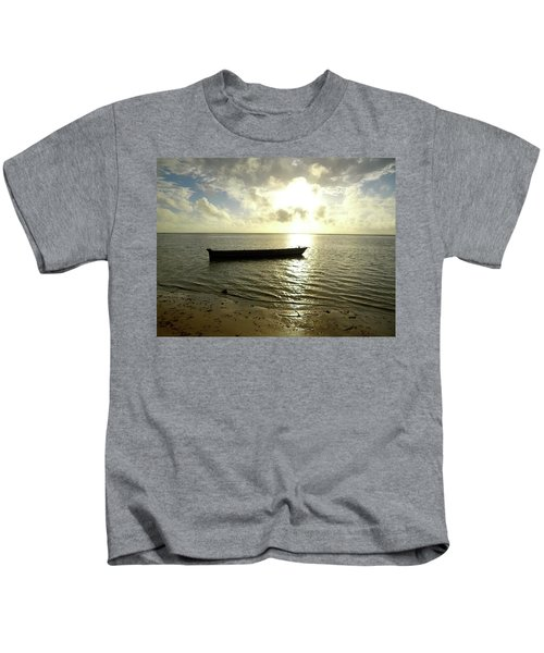 Kenyan Wooden Dhow At Sunrise Kids T-Shirt