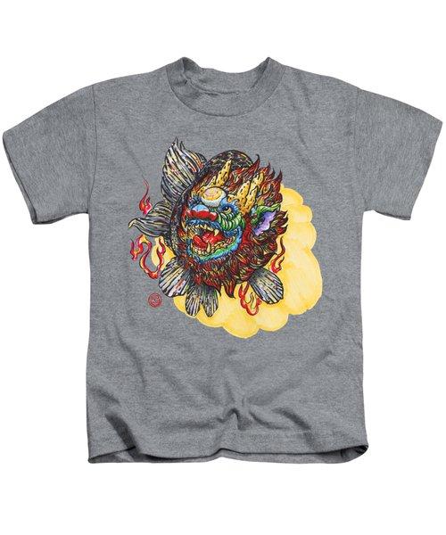Kirin Head Ranchu Kids T-Shirt by Shih Chang Yang