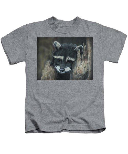 Kit...the Baby Raccoon Kids T-Shirt