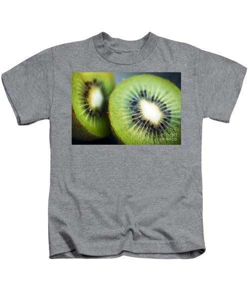 Kiwi Fruit Halves Kids T-Shirt by Ray Laskowitz - Printscapes