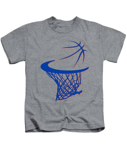 Knicks Basketball Hoop Kids T-Shirt