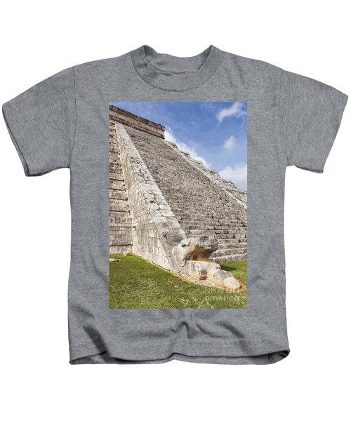 Kukulkan Pyramid At Chichen Itza Kids T-Shirt
