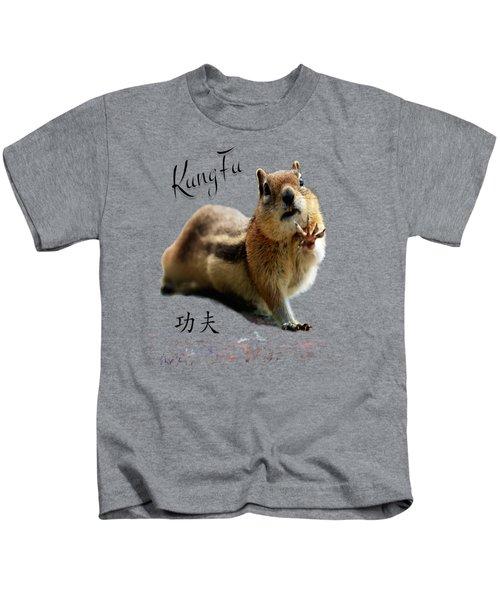 Kung Fu Chipmunk Kids T-Shirt