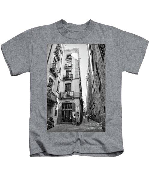 La Rambia Barcelona Restaurant Street Kids T-Shirt