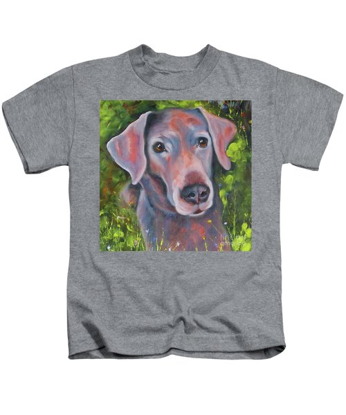 Lab In The Grass Kids T-Shirt