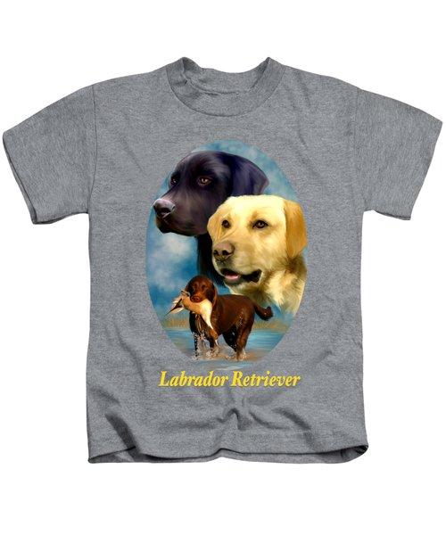 Labrador Retriever With Name Logo Kids T-Shirt
