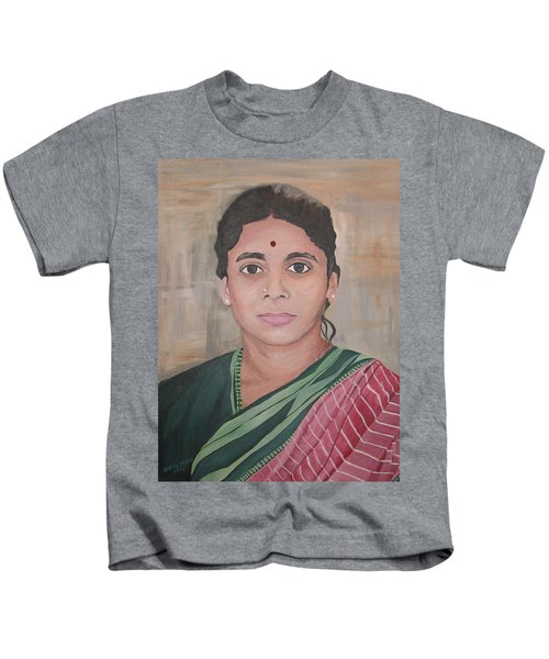 Lady From India Kids T-Shirt