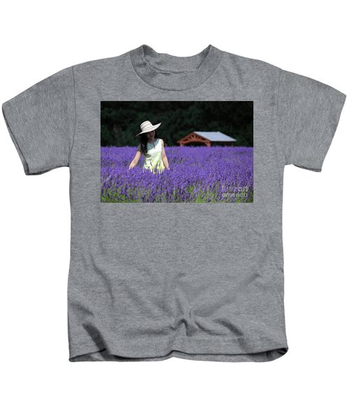 Lady In Lavender Kids T-Shirt