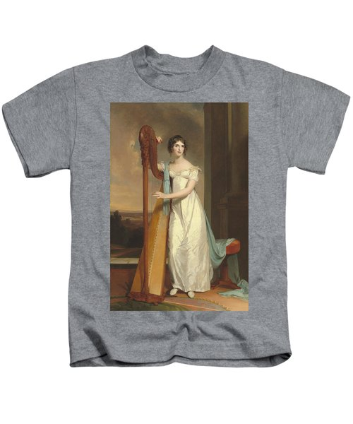 Lady With A Harp Kids T-Shirt
