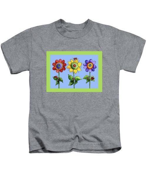 Ladybugs In The Garden Kids T-Shirt by Shelley Wallace Ylst