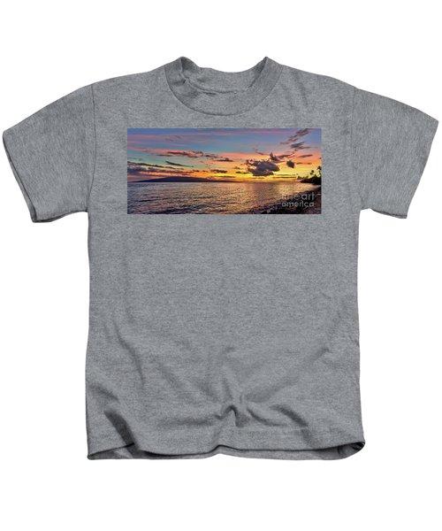 Lahaina Sunset Panorama Kids T-Shirt