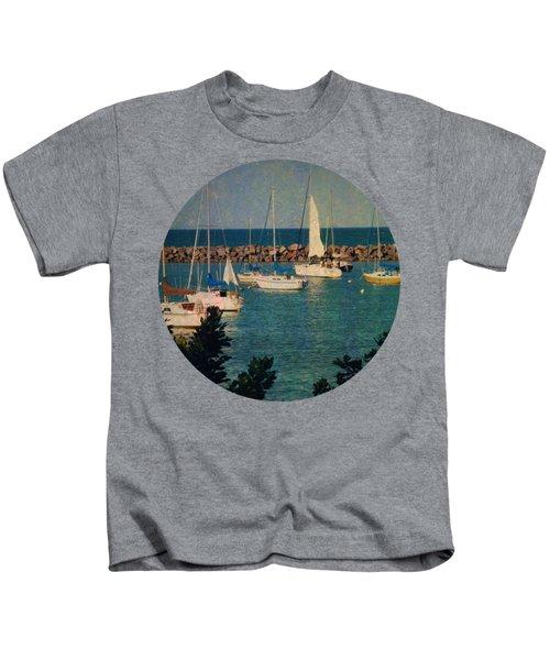 Lake Michigan Sailboats Kids T-Shirt