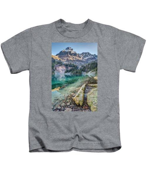Lake O'hara Scenic Shoreline Kids T-Shirt