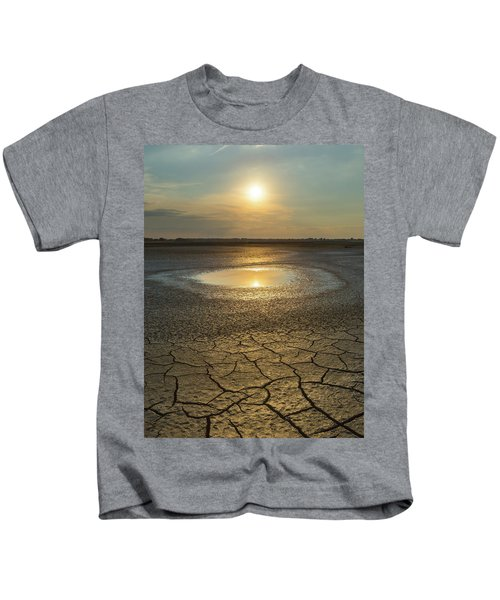 Lake On Fire Kids T-Shirt