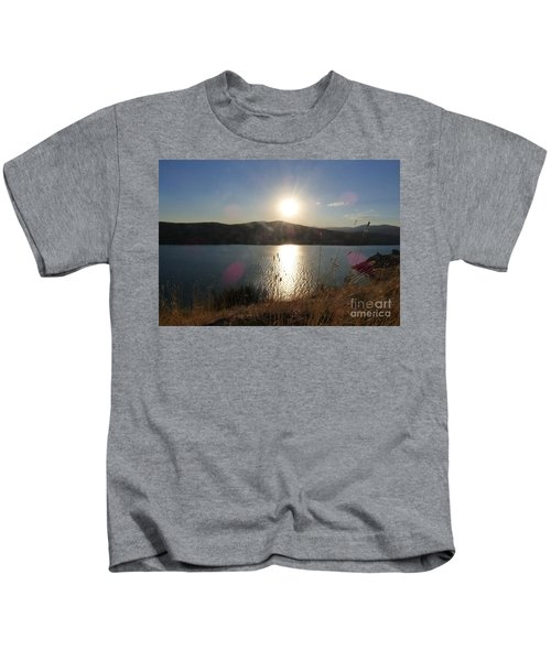 Lake Roosevelt Sun Kids T-Shirt