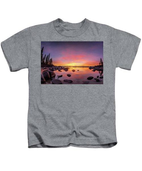Lake Tahoe Sunset Peace Kids T-Shirt