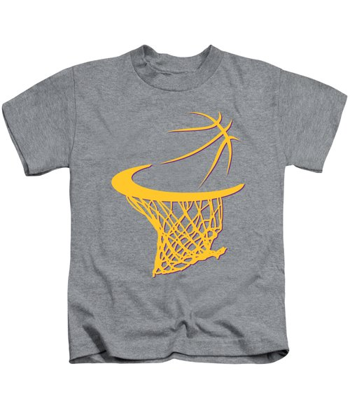 Lakers Basketball Hoop Kids T-Shirt