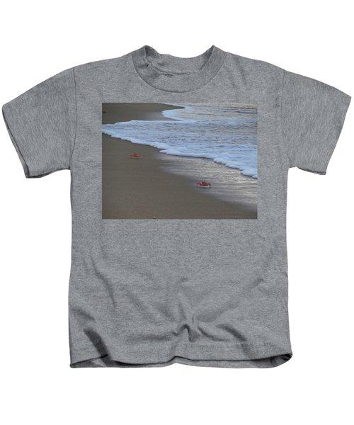 Lamu Island - Crabs Playing At Sunset 4 Kids T-Shirt by Exploramum Exploramum